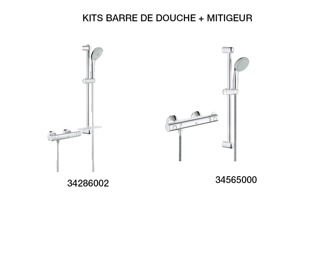 barre de douche grohe barre de douche grohe vitalio start chrom leroy merlin barre de douche. Black Bedroom Furniture Sets. Home Design Ideas